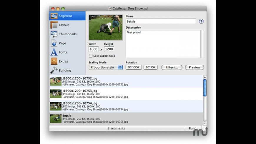 Gallery Designer for Mac - review, screenshots