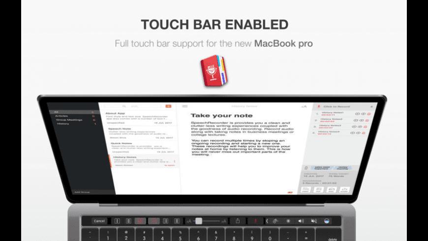 Speech Recorder for Mac - review, screenshots