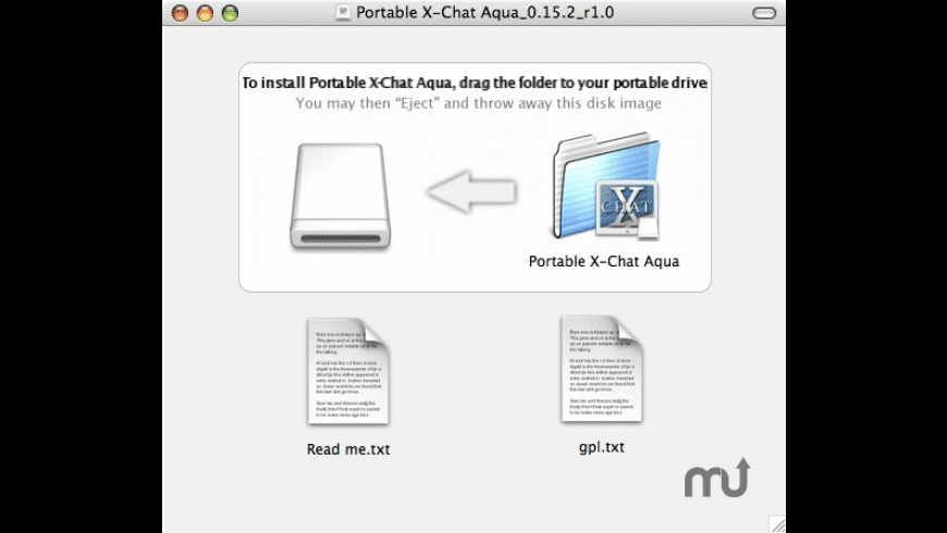 Portable X-Chat Aqua for Mac - review, screenshots