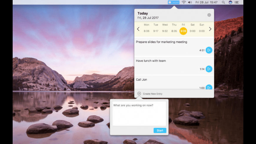 Timetool for Mac - review, screenshots