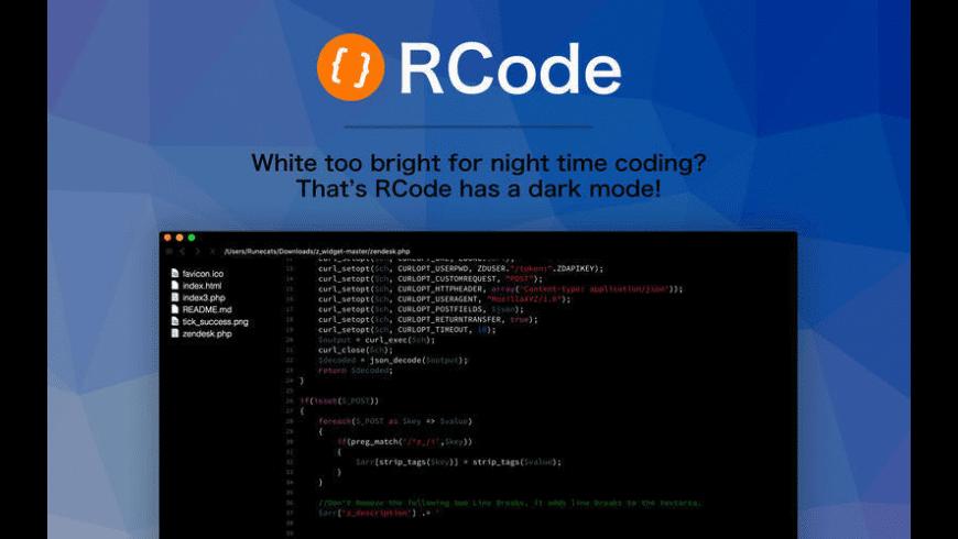 RCode for Mac - review, screenshots