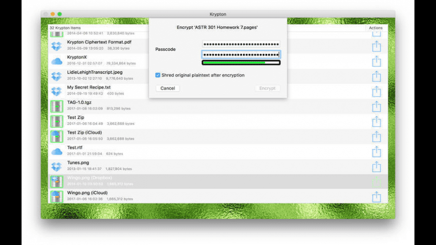 Krypton for Mac - review, screenshots