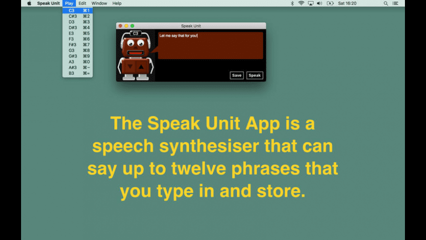 Speak Unit for Mac - review, screenshots