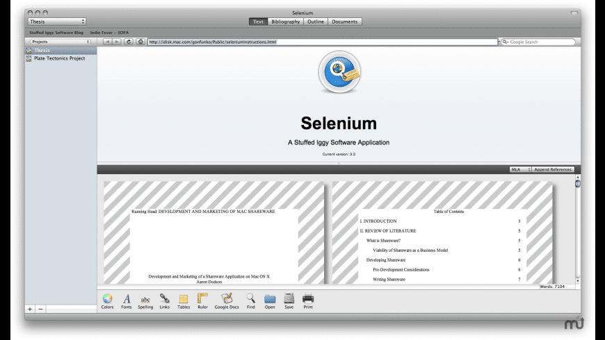 Selenium for Mac - review, screenshots