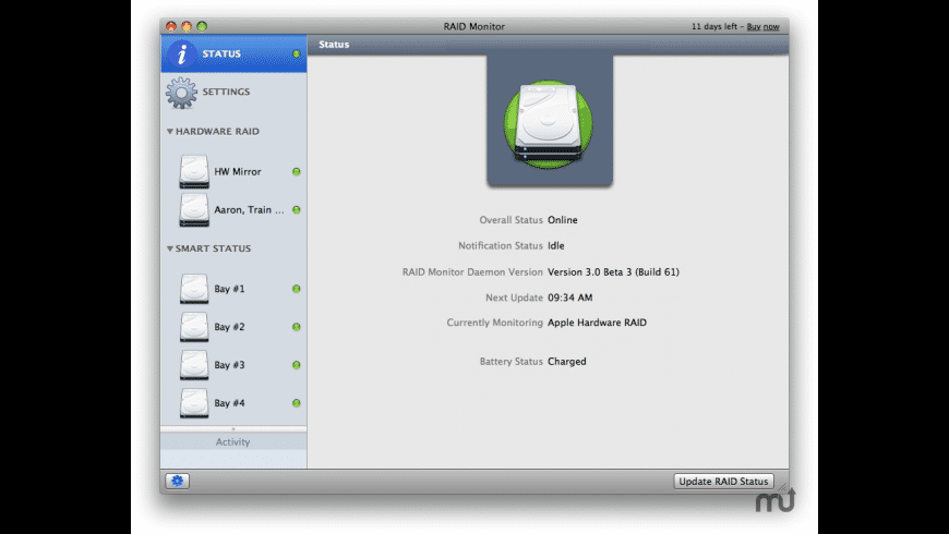 RAID Monitor for Mac - review, screenshots