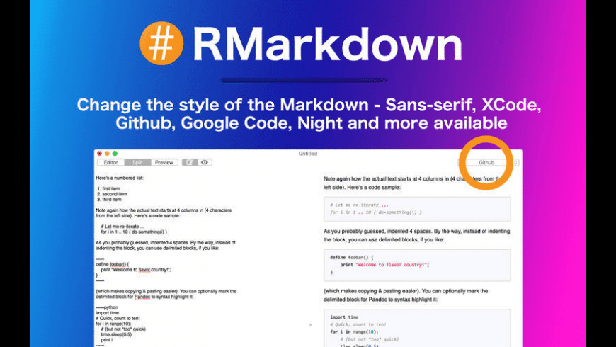 RMarkdown for Mac - review, screenshots