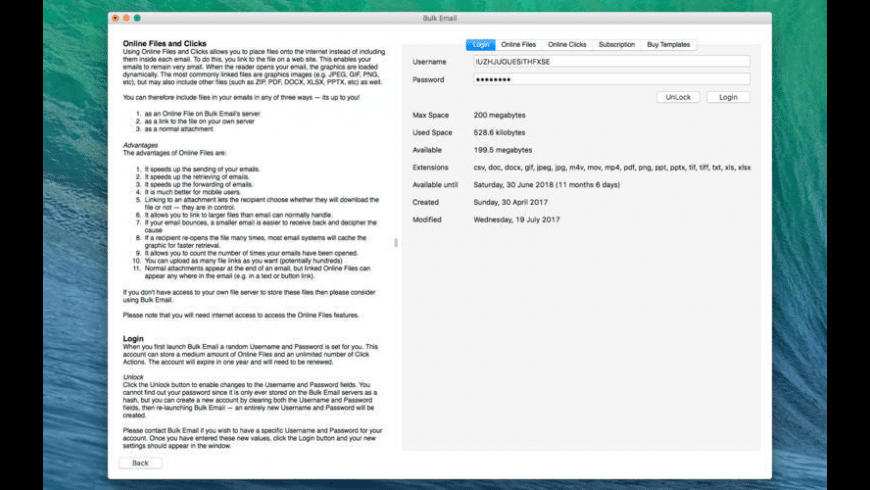Bulk Email for Mac - review, screenshots