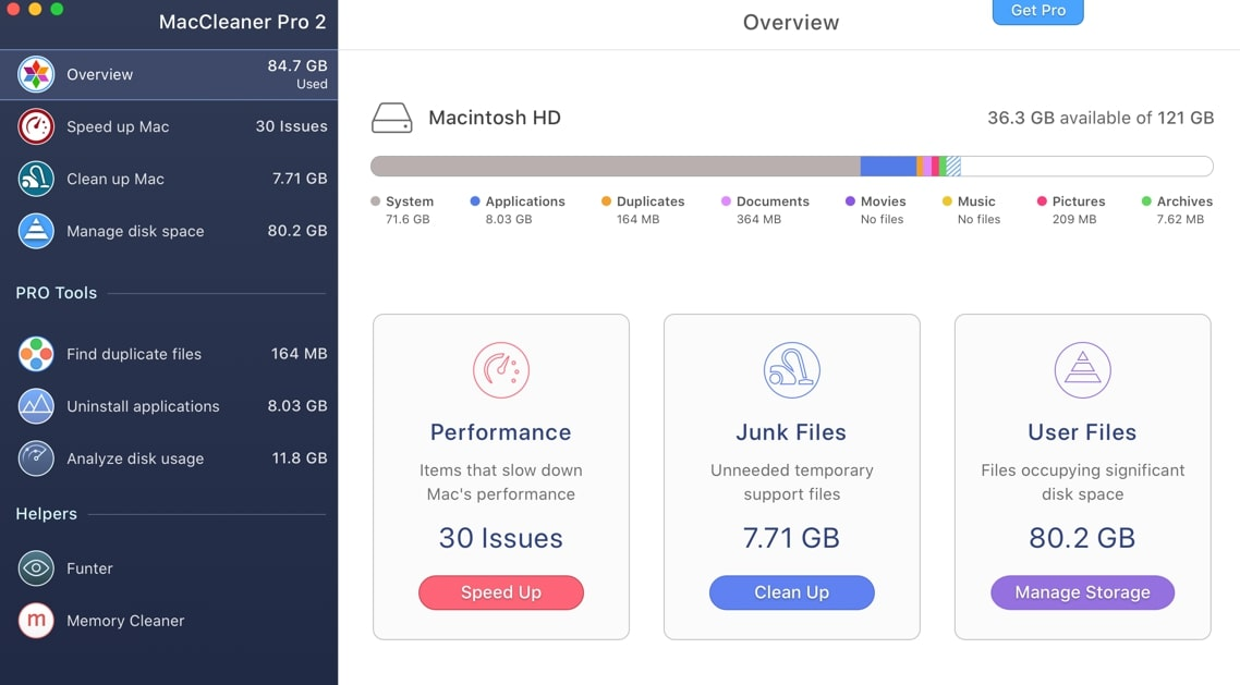 MacCleaner Pro - the best Cleaners for Mac